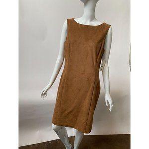 Lauren Suede-Look Dress NWT